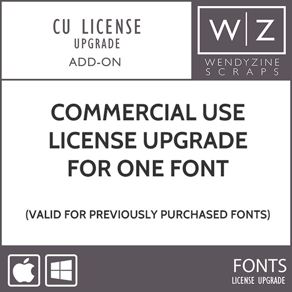 FONT: Commercial Use License Upgrade