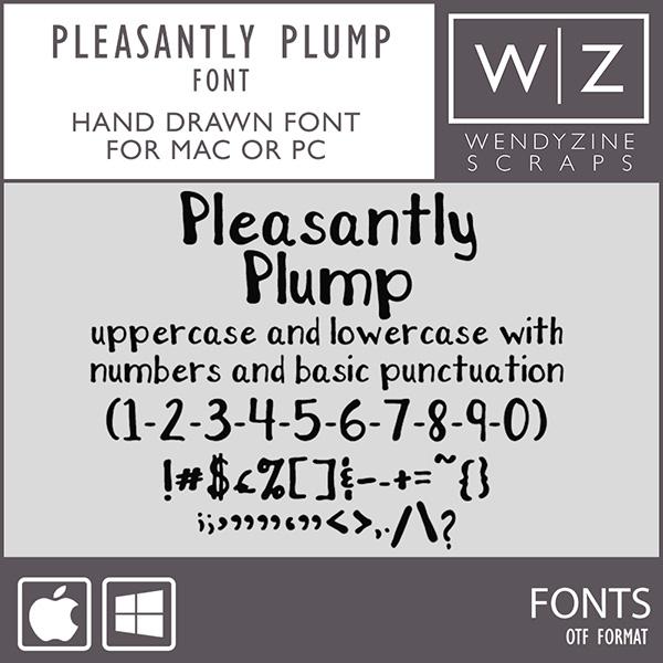 FONT: Pleasantly Plump
