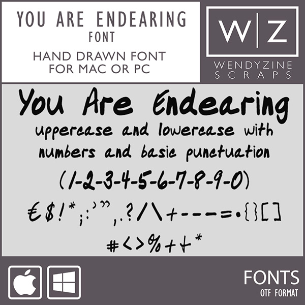 FONT: You Are Endearing