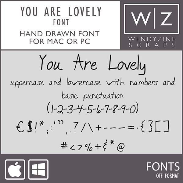 FONT: You Are Lovely