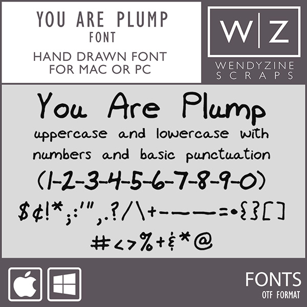 FONT: You Are Plump