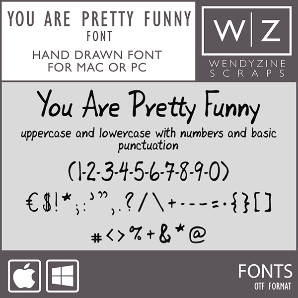 FONT: You Are Pretty Funny