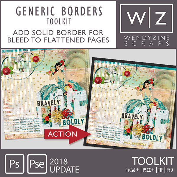 PHOTOBOOK TOOLKIT: Generic Borders Only 2018