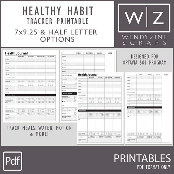 Healthy Habits Tracker Printables