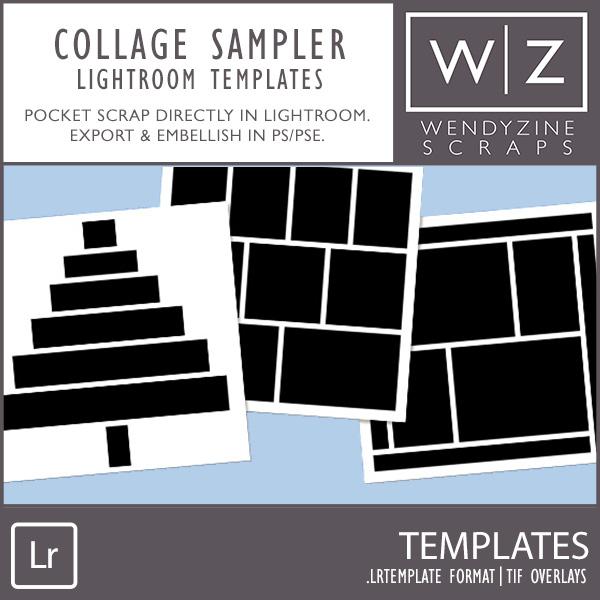 TEMPLATES: Lightroom Collage Sampler