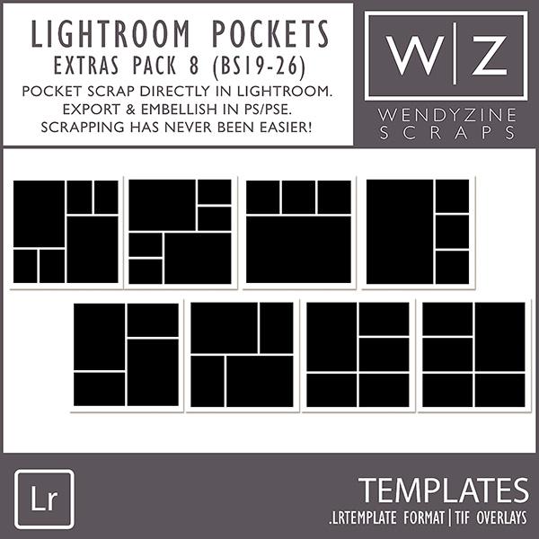 TEMPLATES: Lightroom Pockets Extras Pack 8