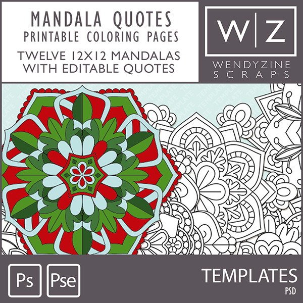COLORING PAGES: Mandala Quotes