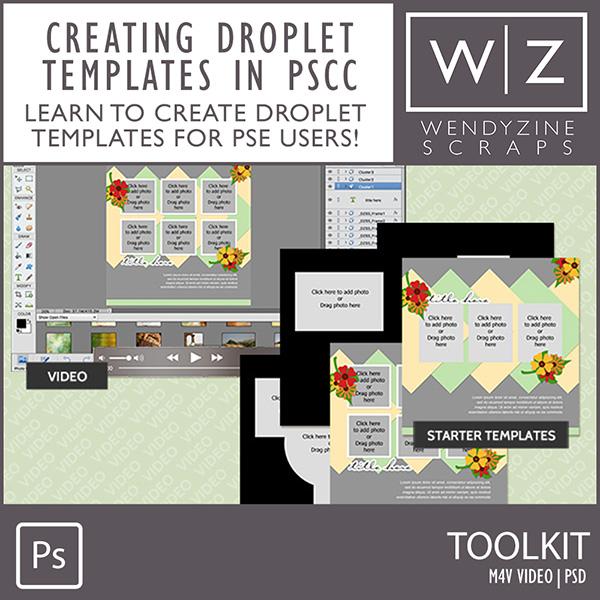 TOOLKIT: Custom Frame Droplet Templates & Video