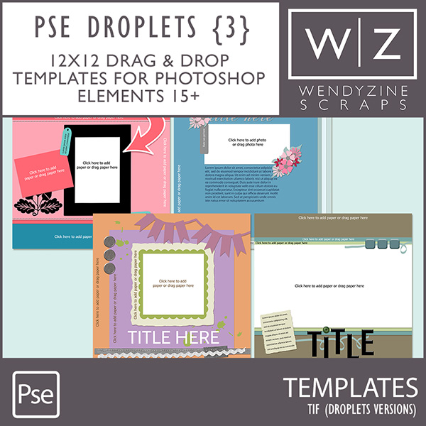 TEMPLATES: Droplets Set 3 PSE15/2018