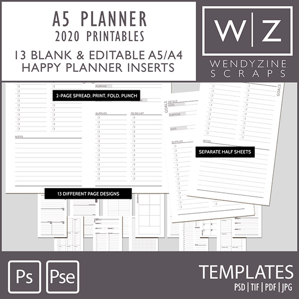 picture about A5 Planner Printables named Electronic Sbook Retail outlet Sbooking Artwork