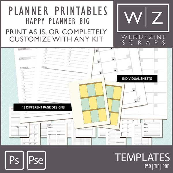 templates planner printables happy planner big