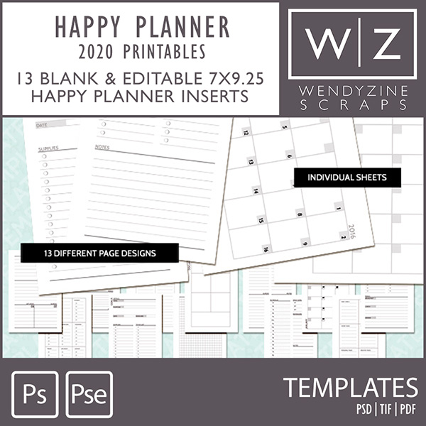 TEMPLATES: 2020 Planner Printables {Happy Planner)