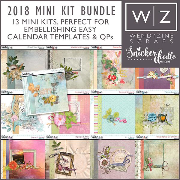 2018 Quick & Easy Calendars {Mini Kit Bundle}