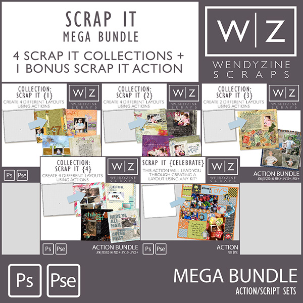 ACTION: Scrap It Mega Collection by Wendyzine