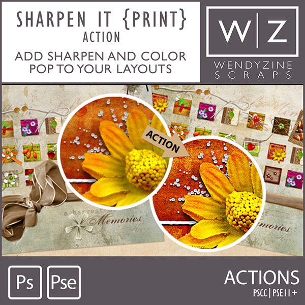 ACTION: Sharpen It {Print}