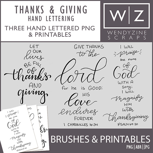 Thanks & Giving Hand Lettering