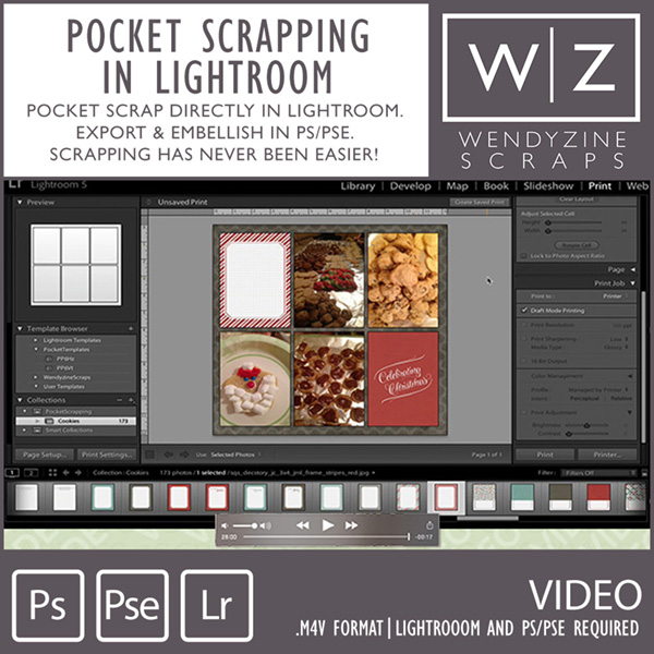 VIDEO: Pocket Scrapping In Lightroom