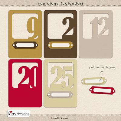 You Alone {Calendar}