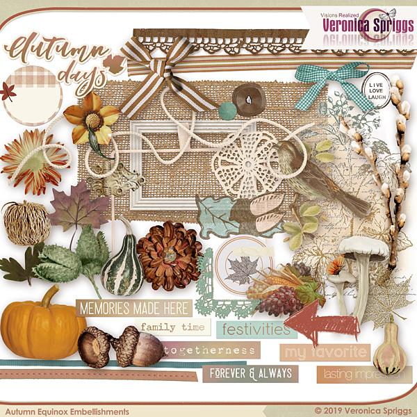 Autumnal Equinox Embellishments