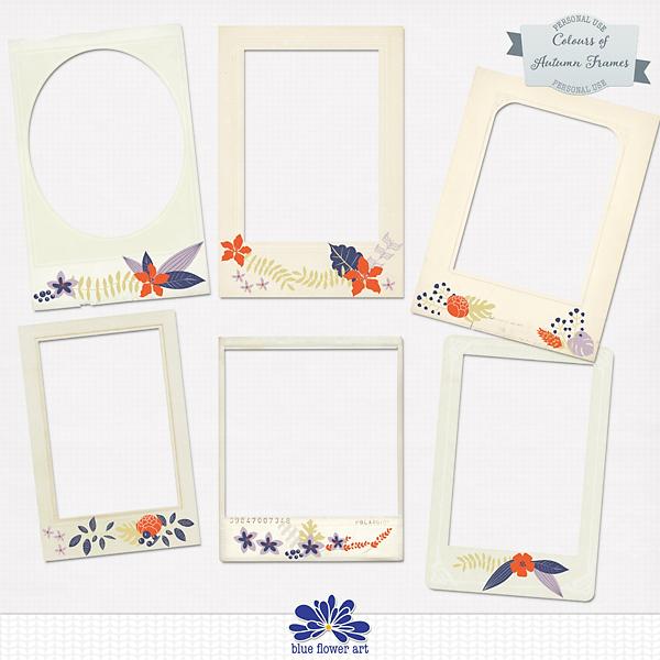 Colours of Autumn Journal frames