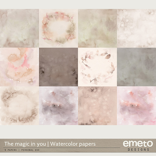 The magic in you - Watercolor papers
