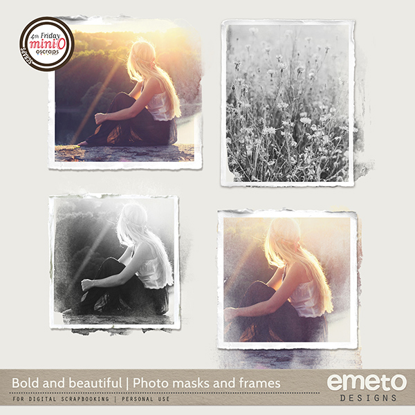 Bold and beautiful - Photo masks and frames