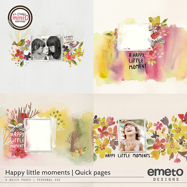 Happy little moments - quick pages