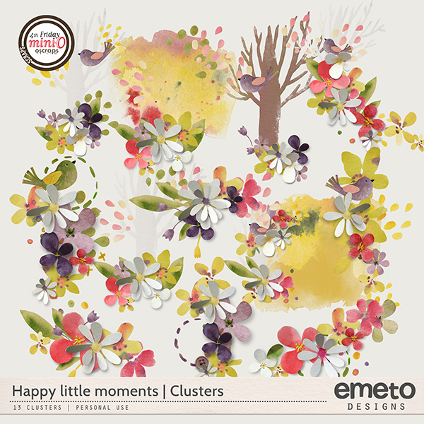 Happy little moments - clusters