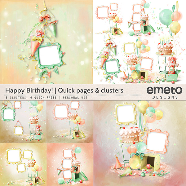 Happy Birthday! - Quick pages and clusters