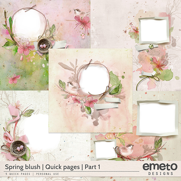 Spring Blush - Quick pages - part1