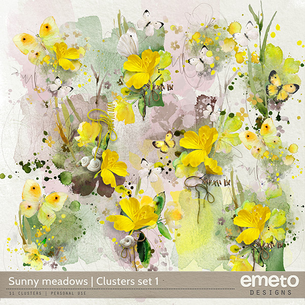 Sunny meadows - clusters set 1