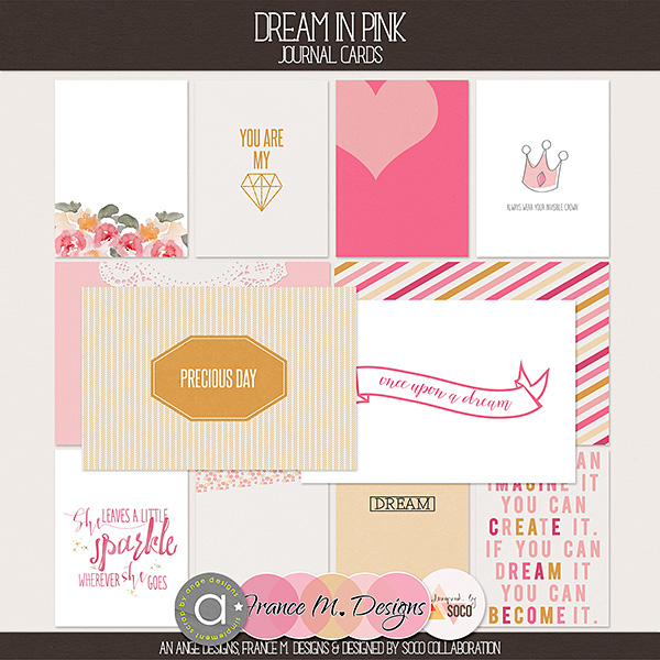 Dream In Pink - Journal Cards