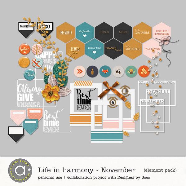 Life In Harmony - November {Elements}