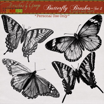 Butterfly Brushes Set 3