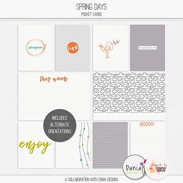 Spring Days | Pocket Cards
