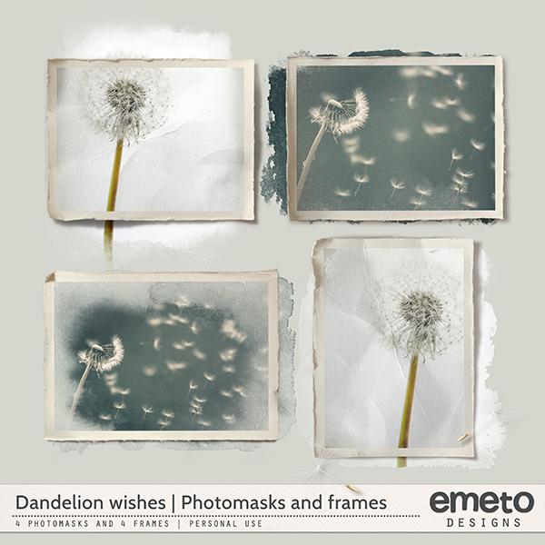 Dandelion wishes - Photo masks and frames
