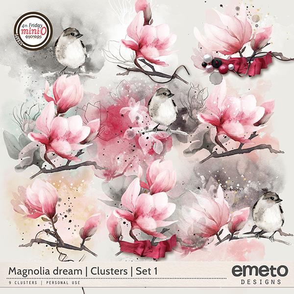 Magnolia dream - Clusters   Set 1