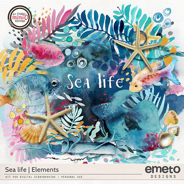 Sea life - elements