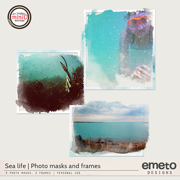 Sea life - photo masks and frames