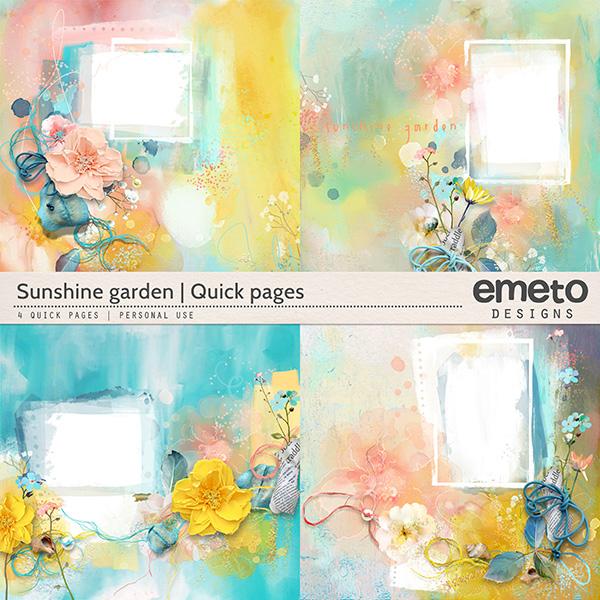 Sunshine Garden - quick pages