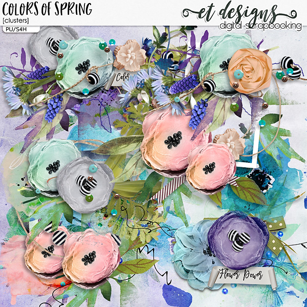 Colors of Springs Clusters by et designs