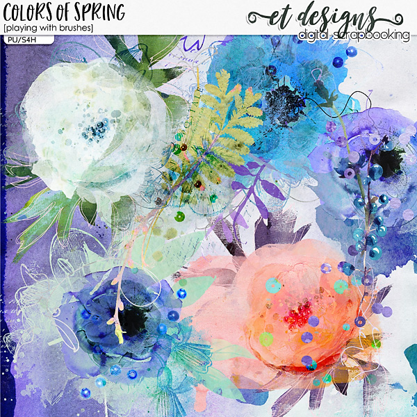 Colors of Spring Playing with Brushes by et designs