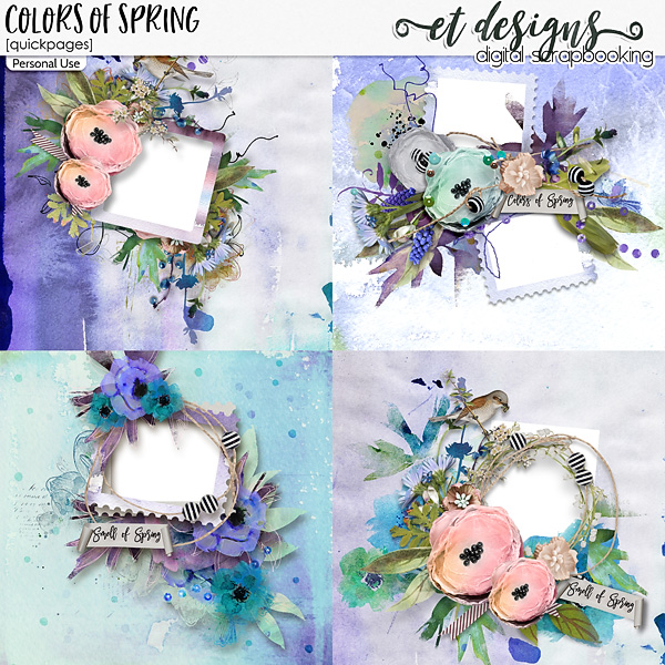 Colors of Spring Quickpages by et designs