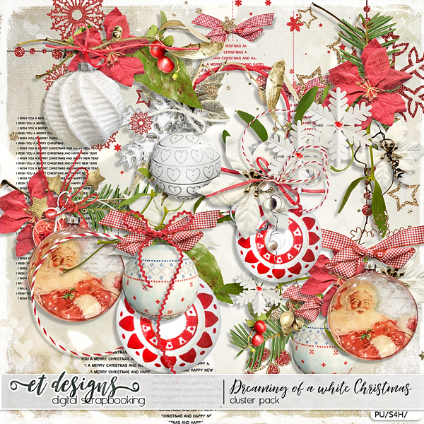 Dreaming of a white Christmas Clusters by et designs