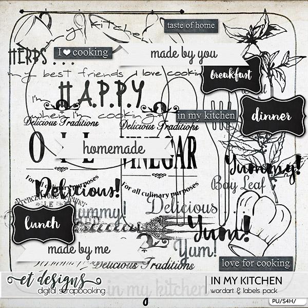 In My Kitchen Word Art