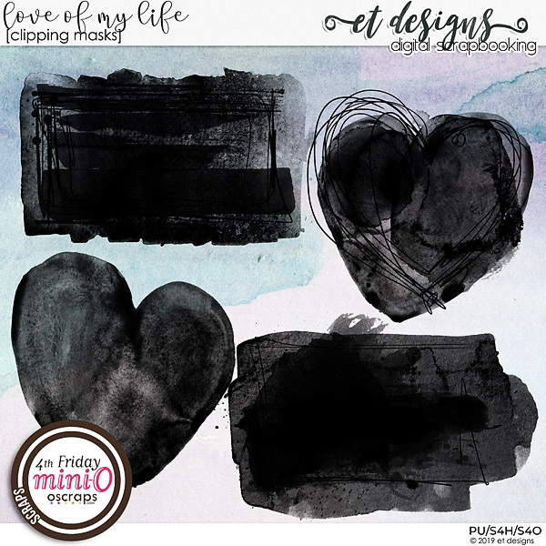 Love of my life Clipping Masks by et designs