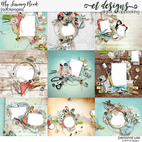 My Sewing Nook Quickpages by et designs