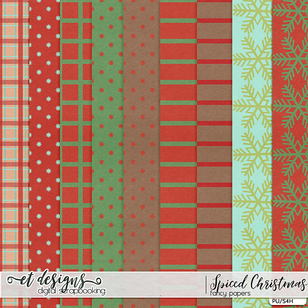 Spiced Christmas Fancy Papers by et designs