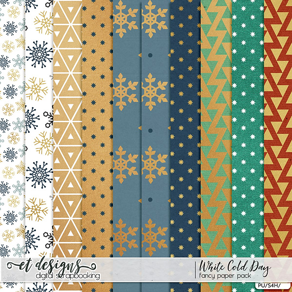White Cold Day Fancy Papers by et designs