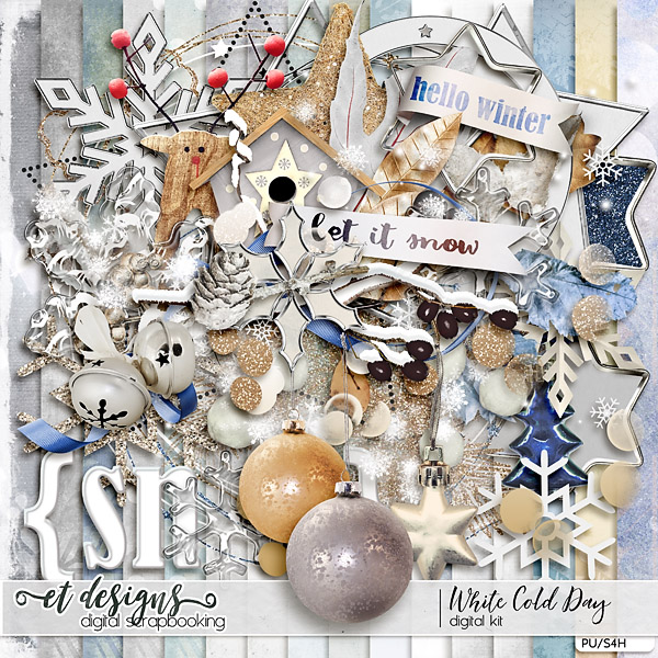 White Cold Day Kit & Alpha & Solids by et designs
